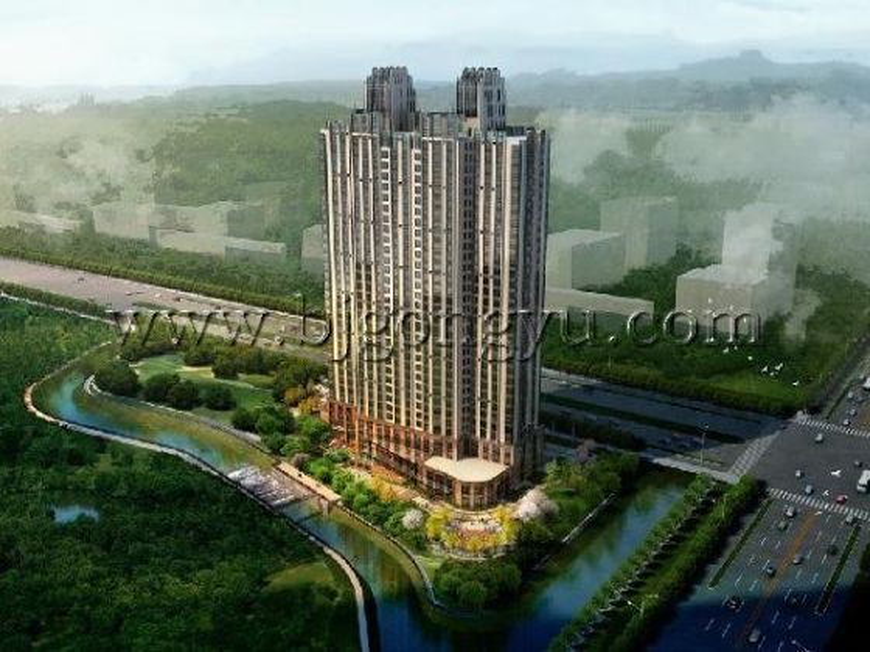 北京绿城奥克伍德华庭公寓东直门绿城奥克伍德外观图