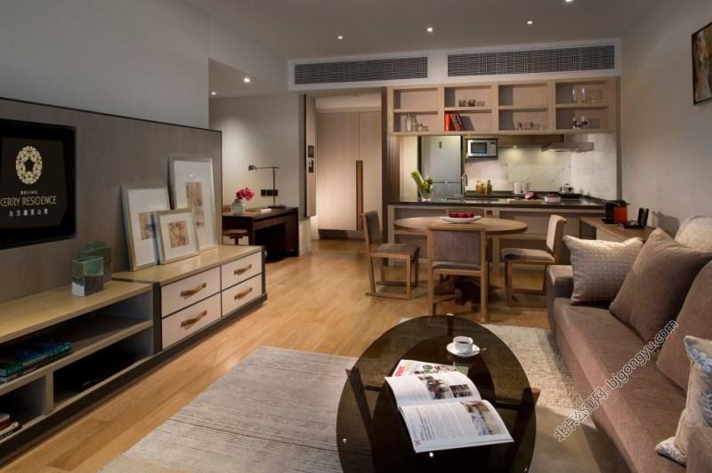 北京嘉里中心公寓2brd-living-room