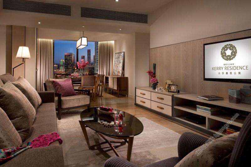 北京嘉里中心公寓2bre-living-room