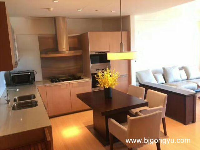 银泰中心(柏悦居/府)公寓开放式厨房