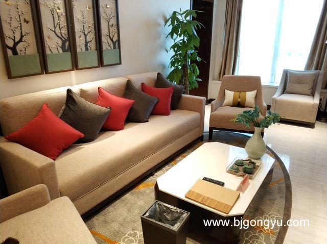 北京佳兆业铂域行政公寓起居室